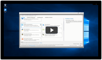 Complete your Visual Studio installation